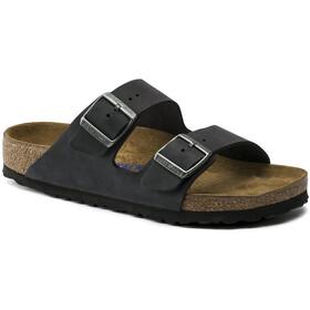 Birkenstock Arizona Soft Footbed Sandals Oiled Nubuck Leather black